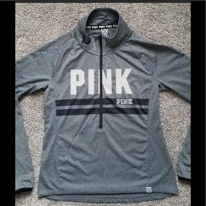 VS-Pink partial zip athletic- NWOT- size large